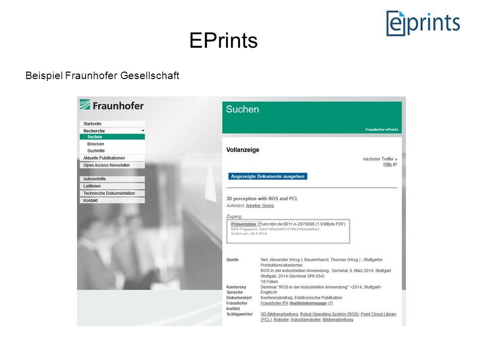 EPrints Beispiel Fraunhofer Gesellschaft