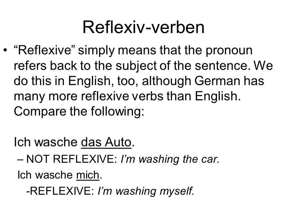 Reflexiv-verben