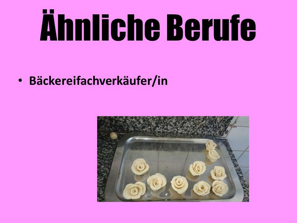 Ähnliche Berufe Bäckereifachverkäufer/in
