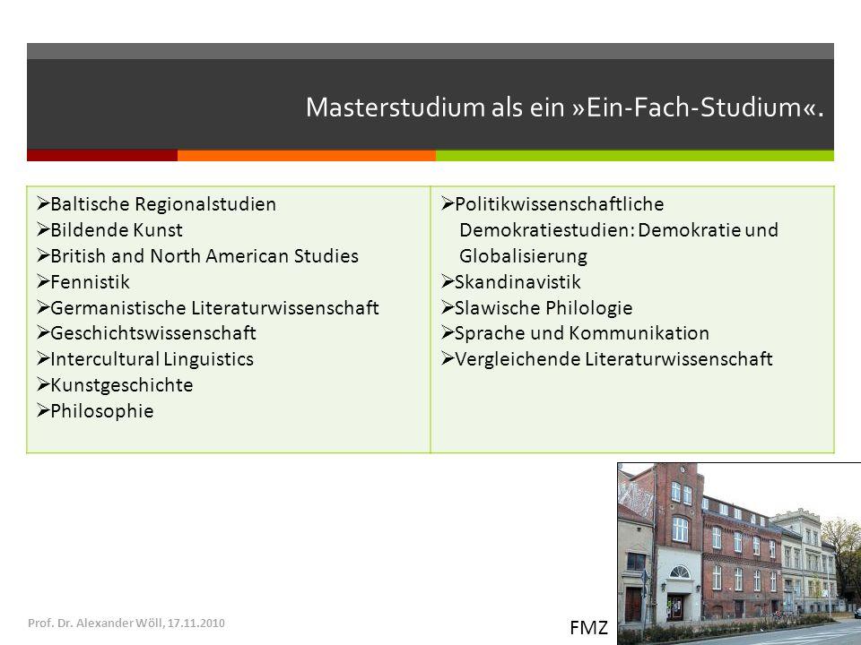 Masterstudium als ein »Ein-Fach-Studium«.