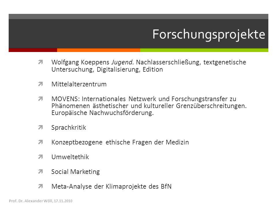 Forschungsprojekte Wolfgang Koeppens Jugend. Nachlasserschließung, textgenetische Untersuchung, Digitalisierung, Edition.