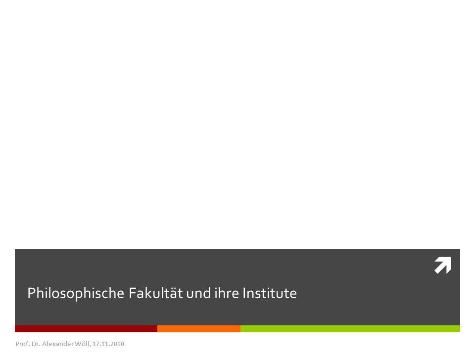 Philosophische Fakultät und ihre Institute
