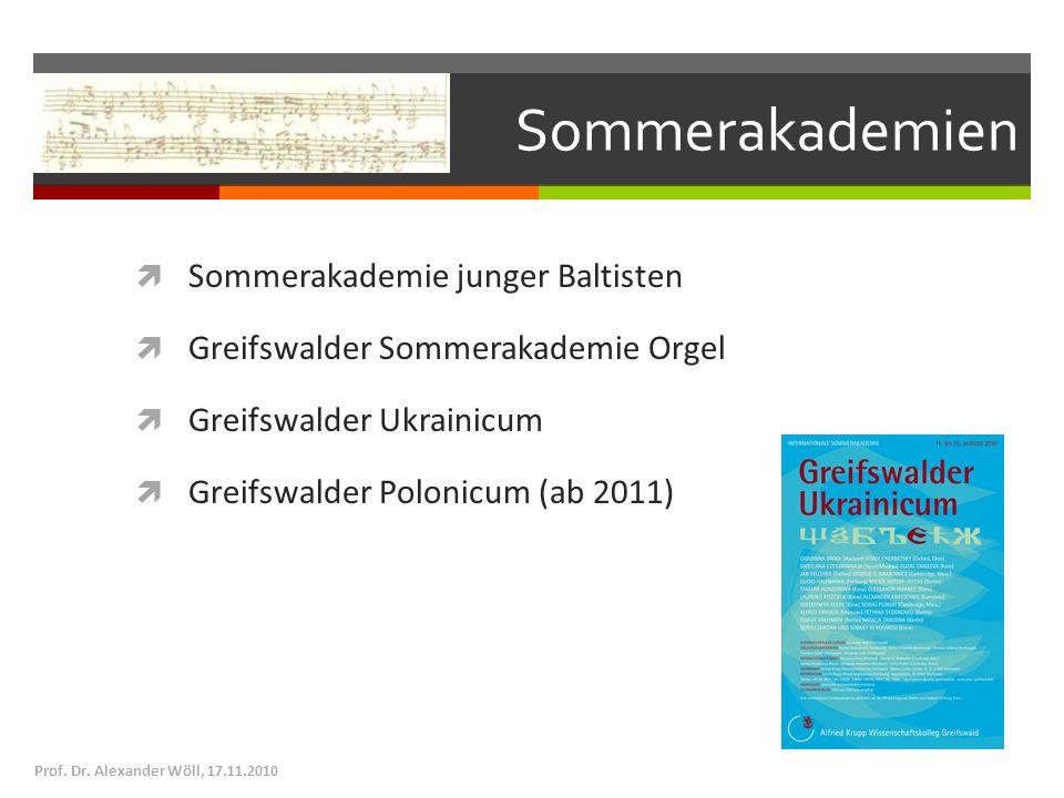 Sommerakademien Sommerakademie junger Baltisten