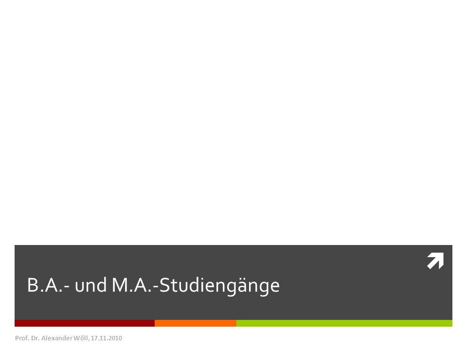 B.A.- und M.A.-Studiengänge