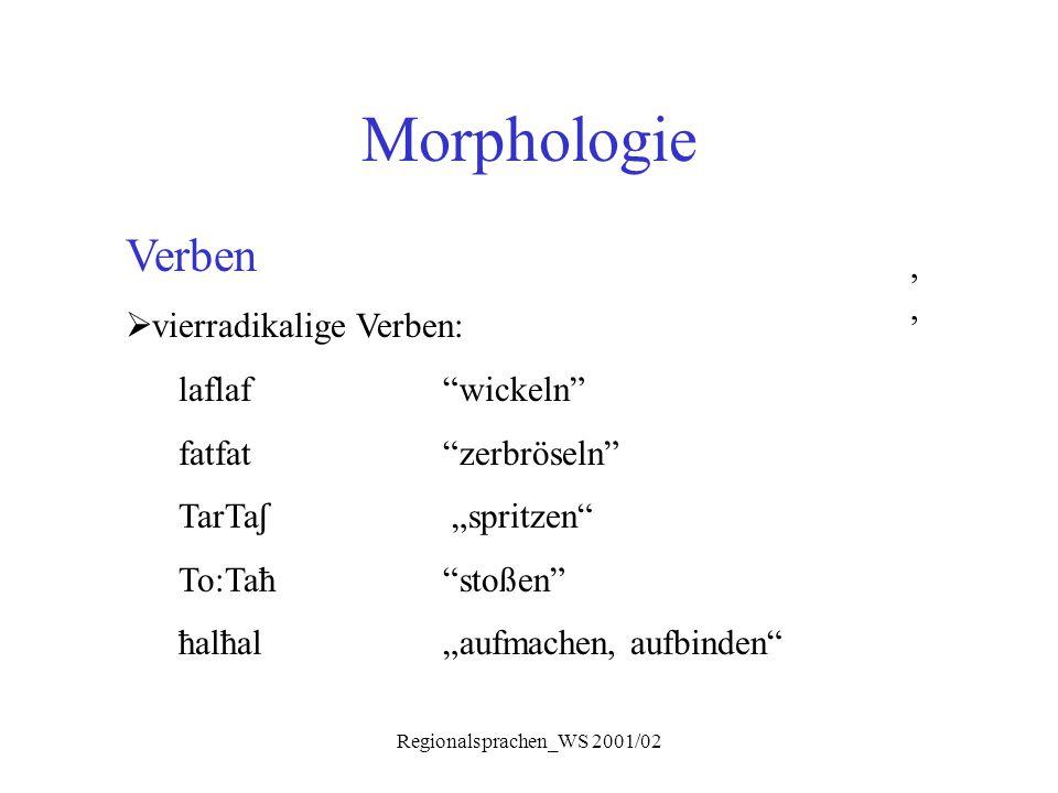 Regionalsprachen_WS 2001/02