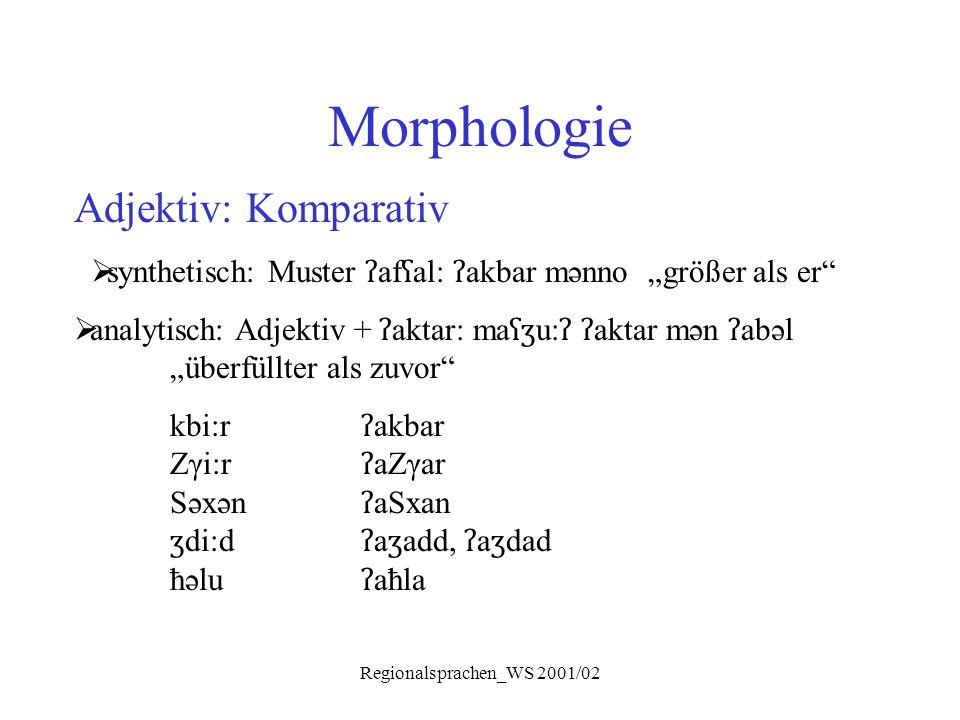 Morphologie Adjektiv: Komparativ