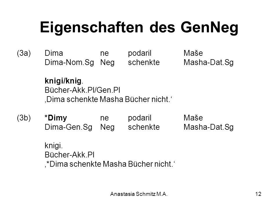 Eigenschaften des GenNeg