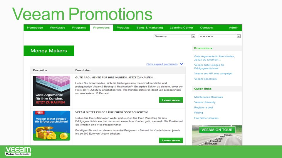 Veeam Promotions