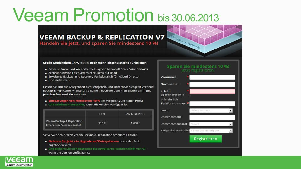 Veeam Promotion bis 30.06.2013