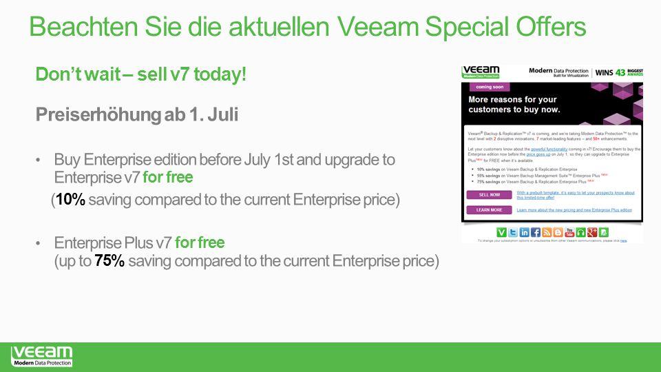 Beachten Sie die aktuellen Veeam Special Offers