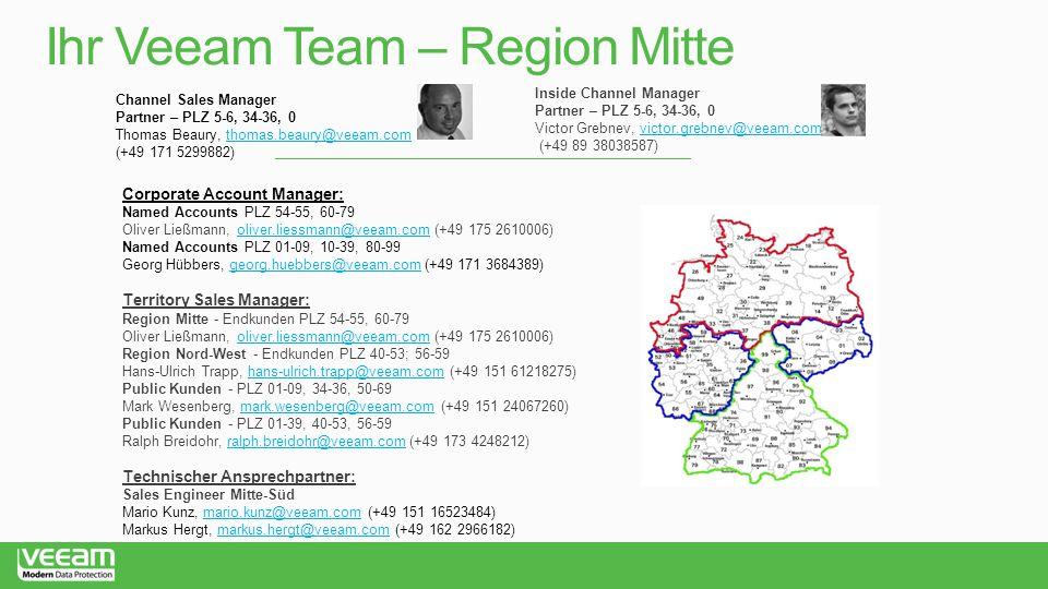 Ihr Veeam Team – Region Mitte