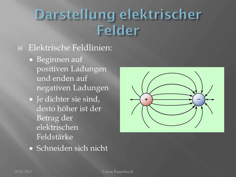 Darstellung elektrischer Felder