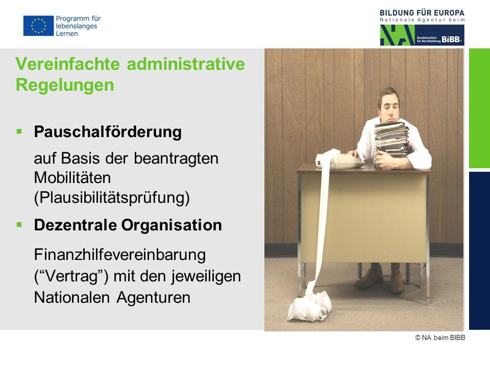 Vereinfachte administrative Regelungen