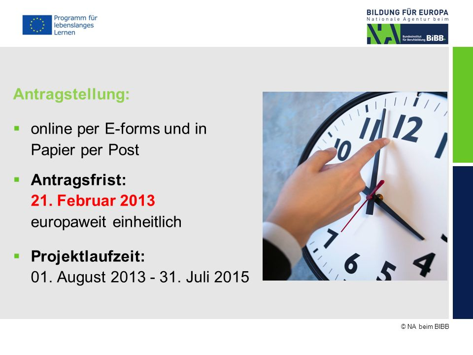 online per E-forms und in Papier per Post