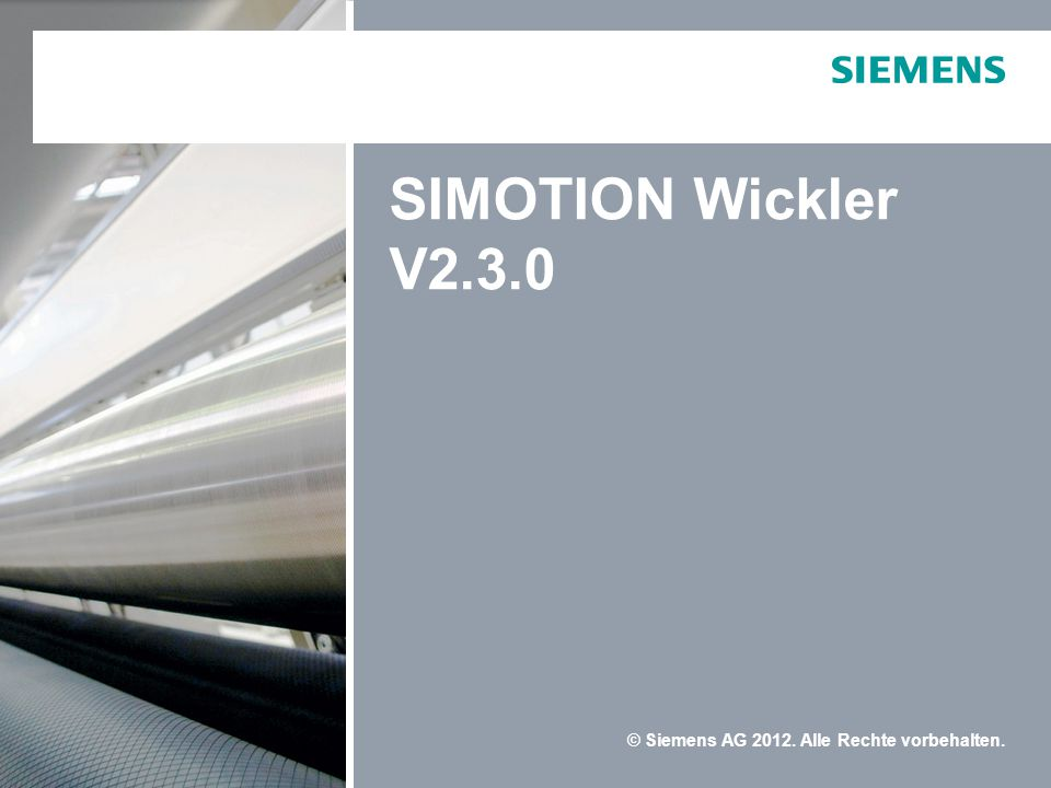 SIMOTION Wickler V2.3.0