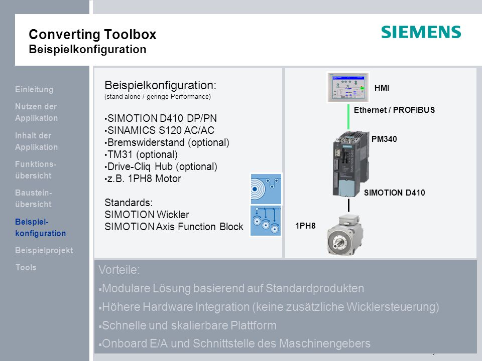 Converting Toolbox Beispielkonfiguration