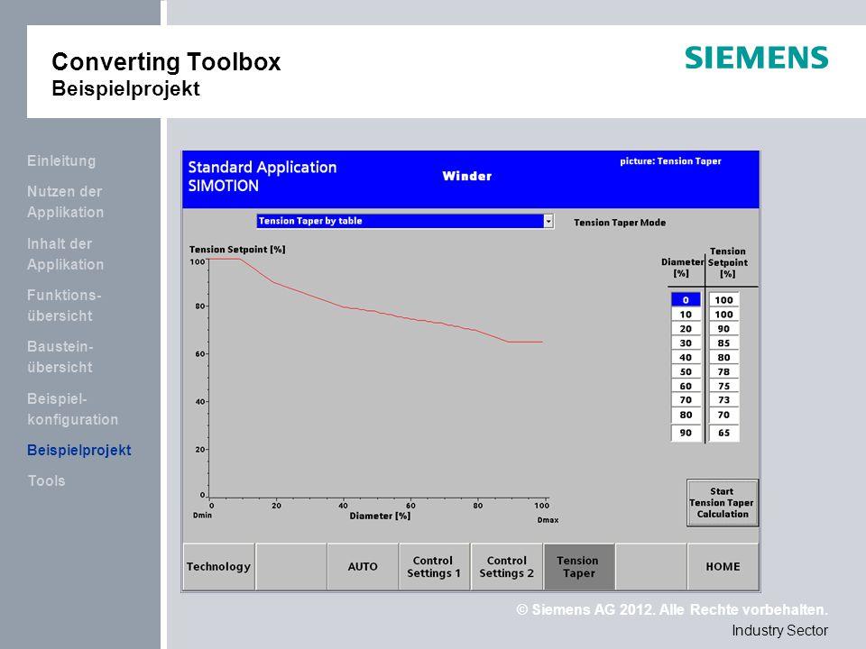 Converting Toolbox Beispielprojekt