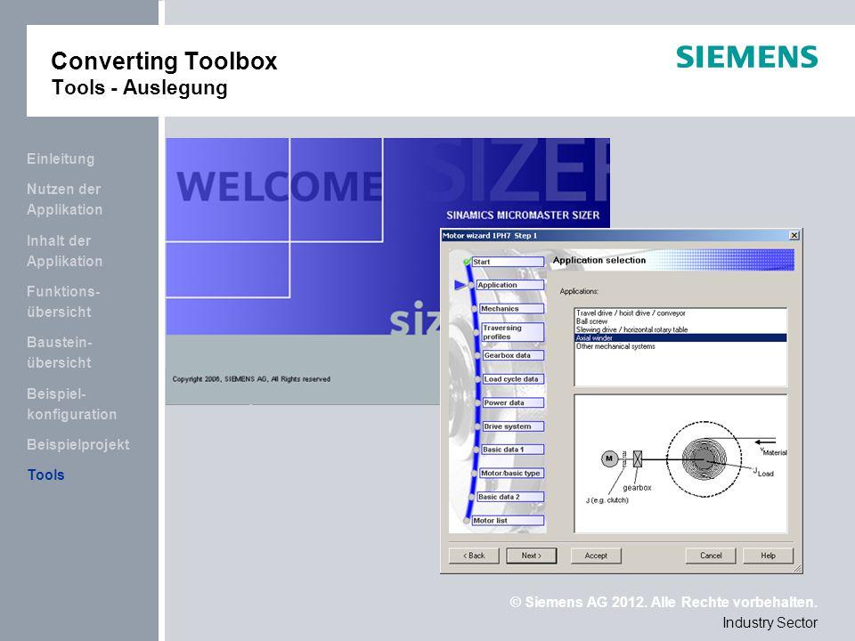 Converting Toolbox Tools - Auslegung
