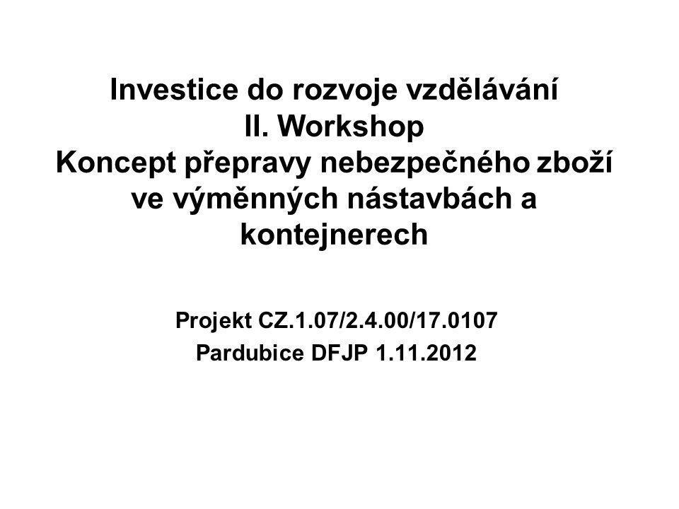 Projekt CZ.1.07/2.4.00/17.0107 Pardubice DFJP 1.11.2012