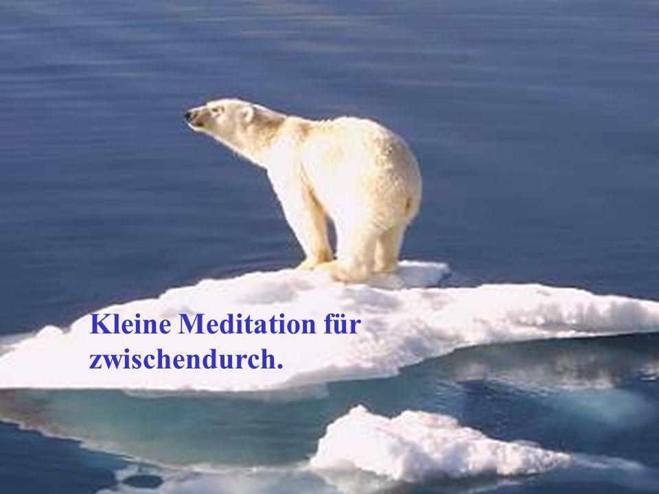 Kleine Meditation für zwischendurch.