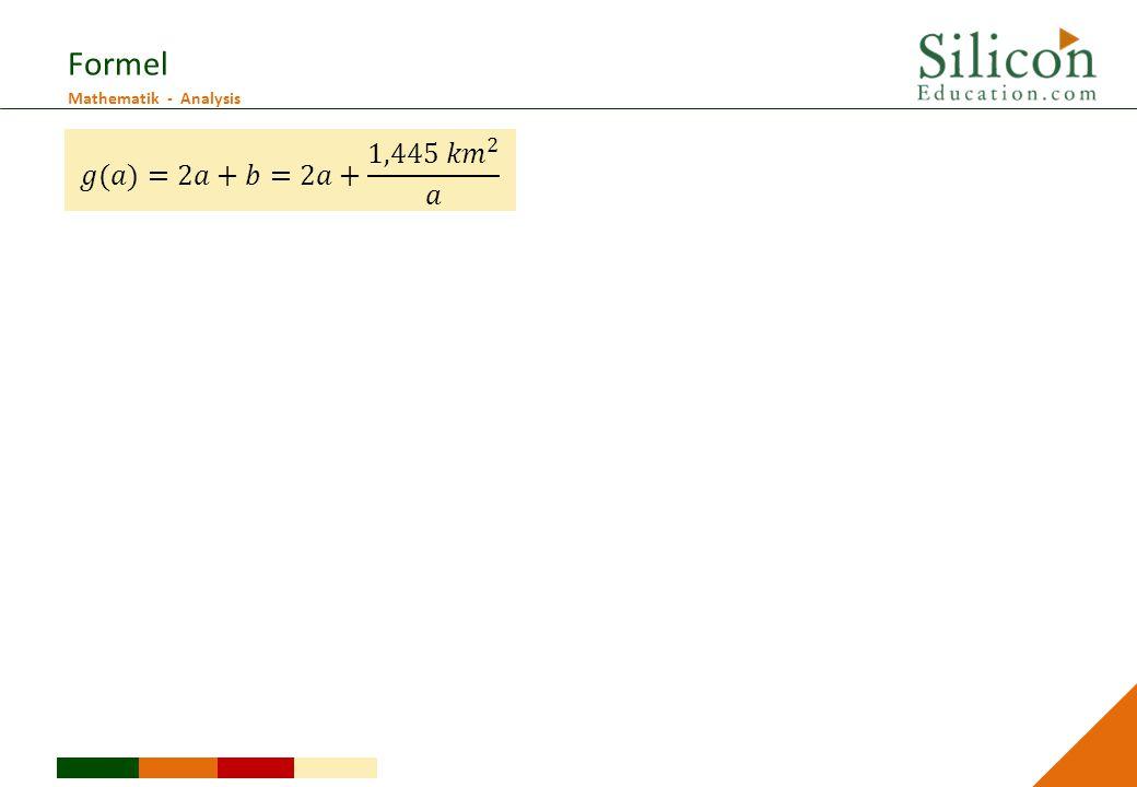 Formel 𝑔(𝑎)=2𝑎+𝑏=2𝑎+ 1,445 𝑘𝑚 2 𝑎