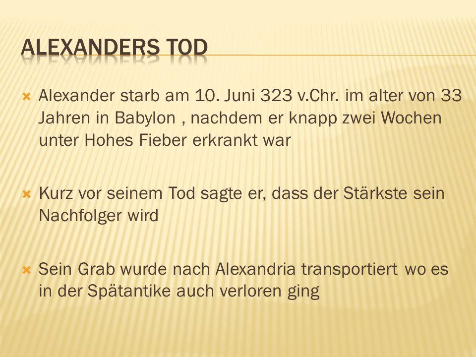 Alexanders Tod