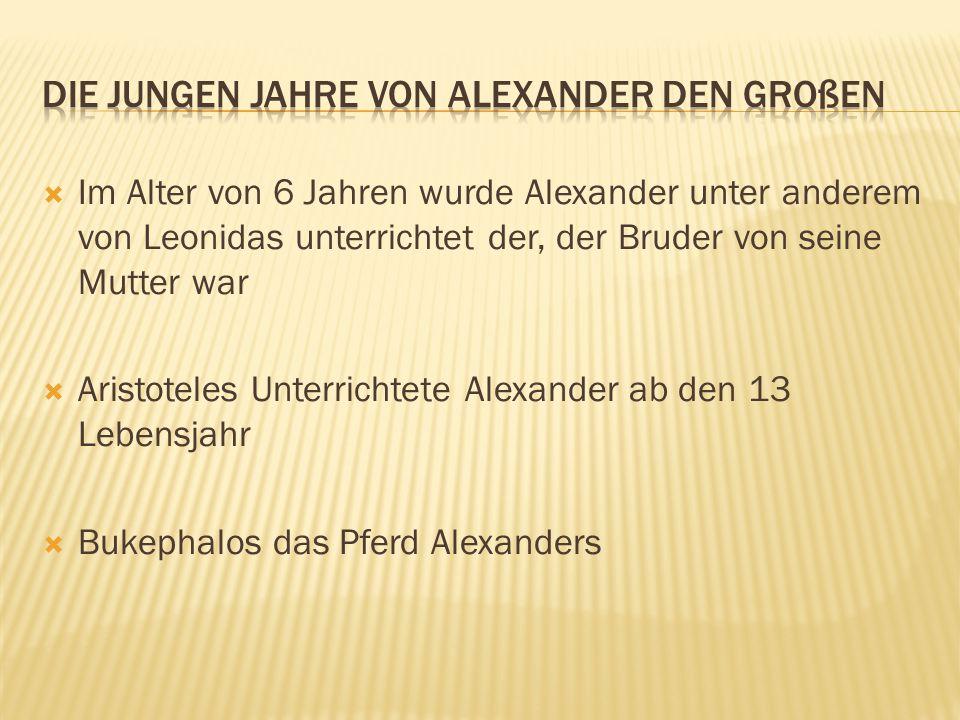 Die Jungen Jahre von Alexander den Großen