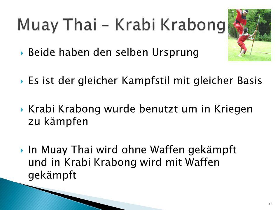 Muay Thai – Krabi Krabong