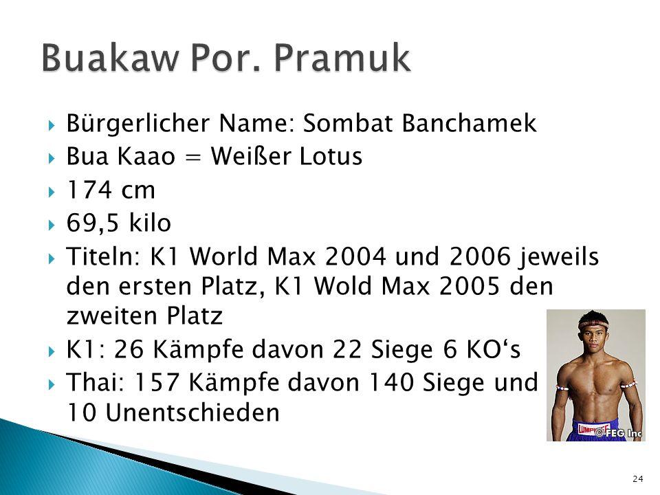 Buakaw Por. Pramuk Bürgerlicher Name: Sombat Banchamek