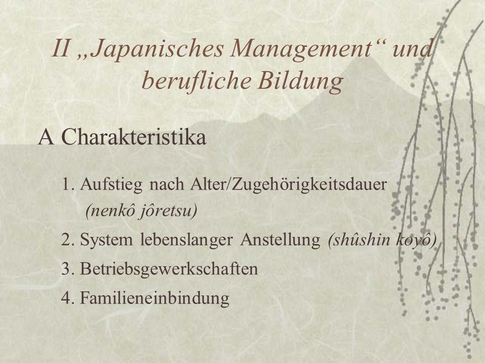 """II """"Japanisches Management und berufliche Bildung"""