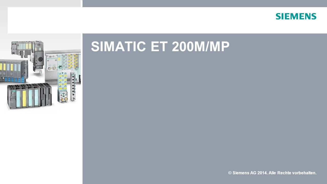 SIMATIC ET 200M/MP