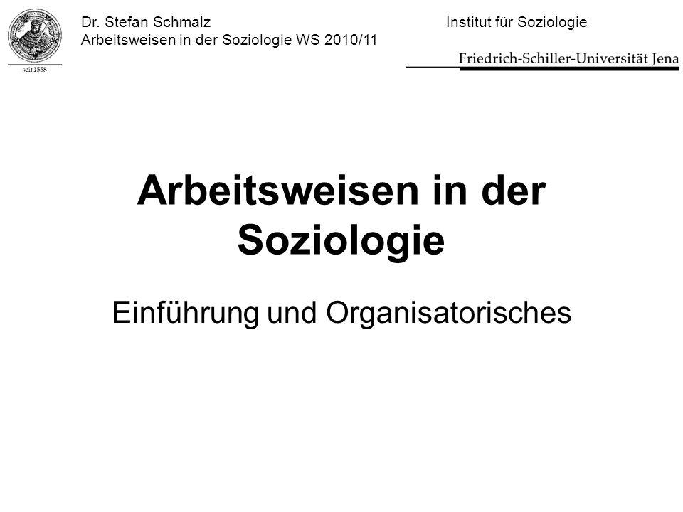 Arbeitsweisen in der Soziologie