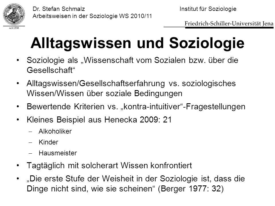 Alltagswissen und Soziologie