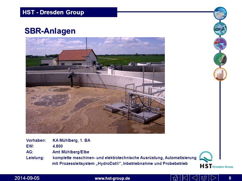 SBR-Anlagen 2017-04-06 Vorhaben: KA Mühlberg, 1. BA EW: 4.800