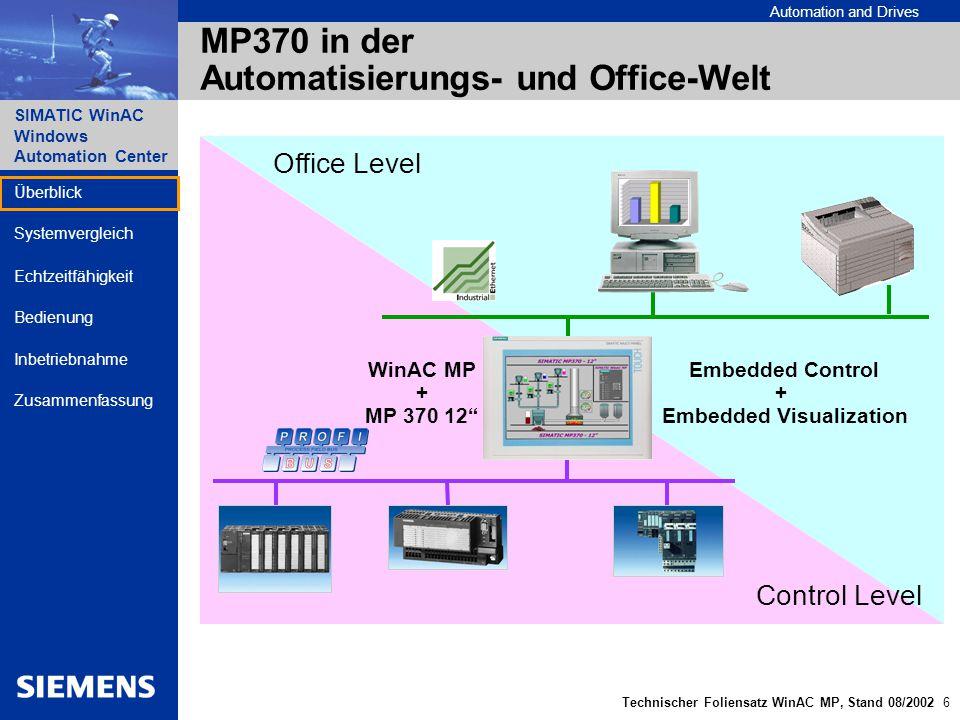 MP370 in der Automatisierungs- und Office-Welt