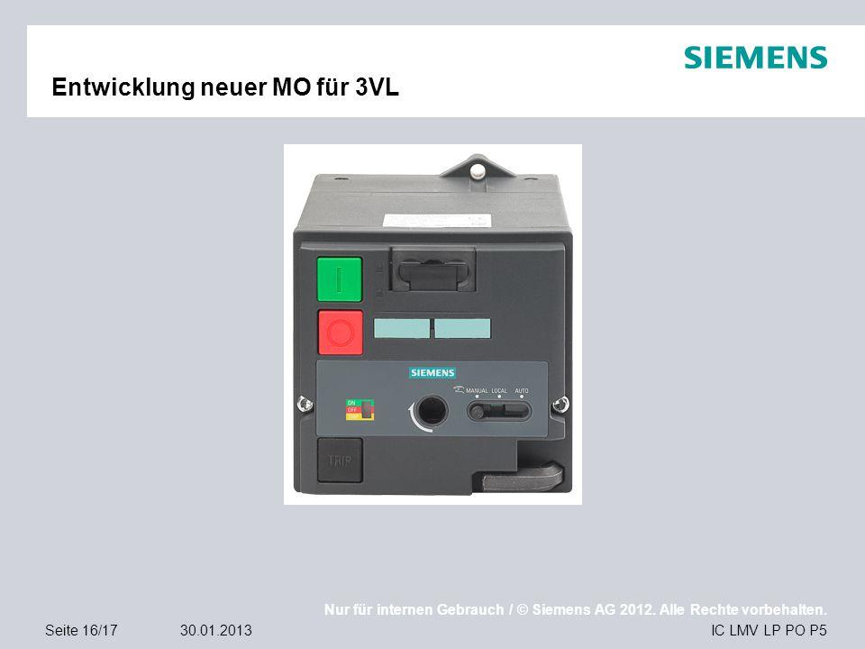 Entwicklung neuer MO für 3VL