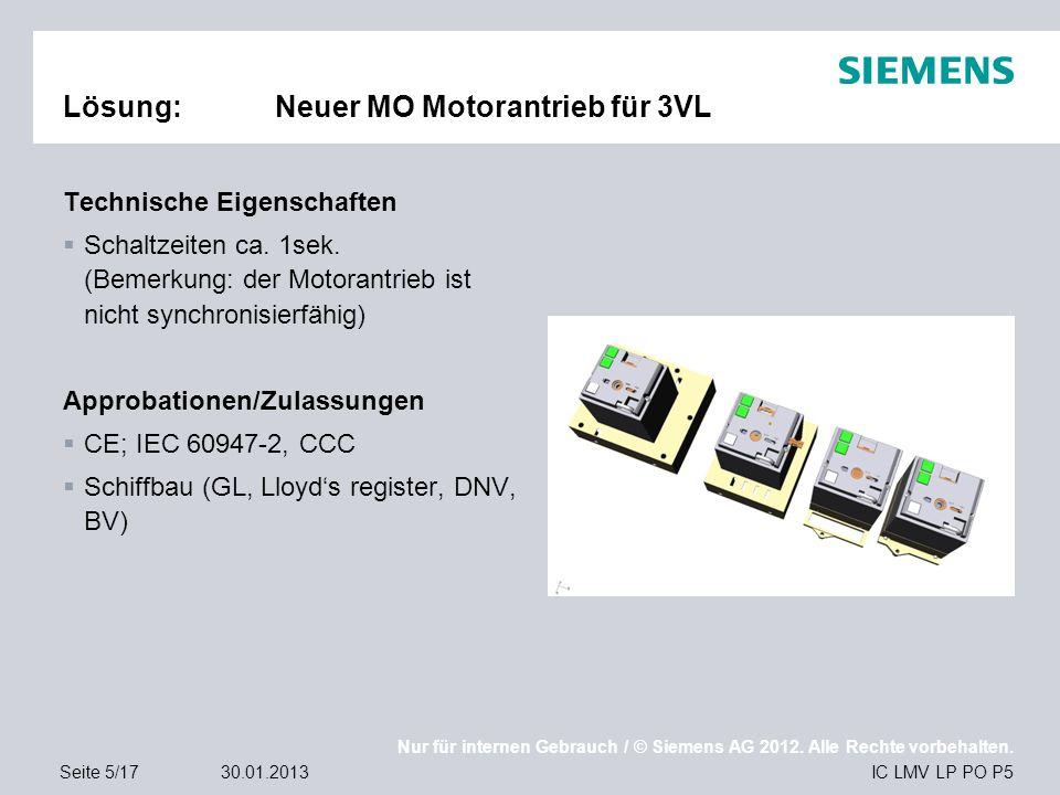 Lösung: Neuer MO Motorantrieb für 3VL