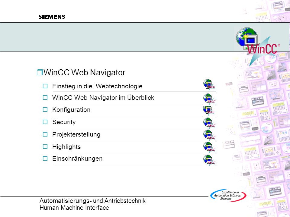 WinCC Web Navigator Einstieg in die Webtechnologie