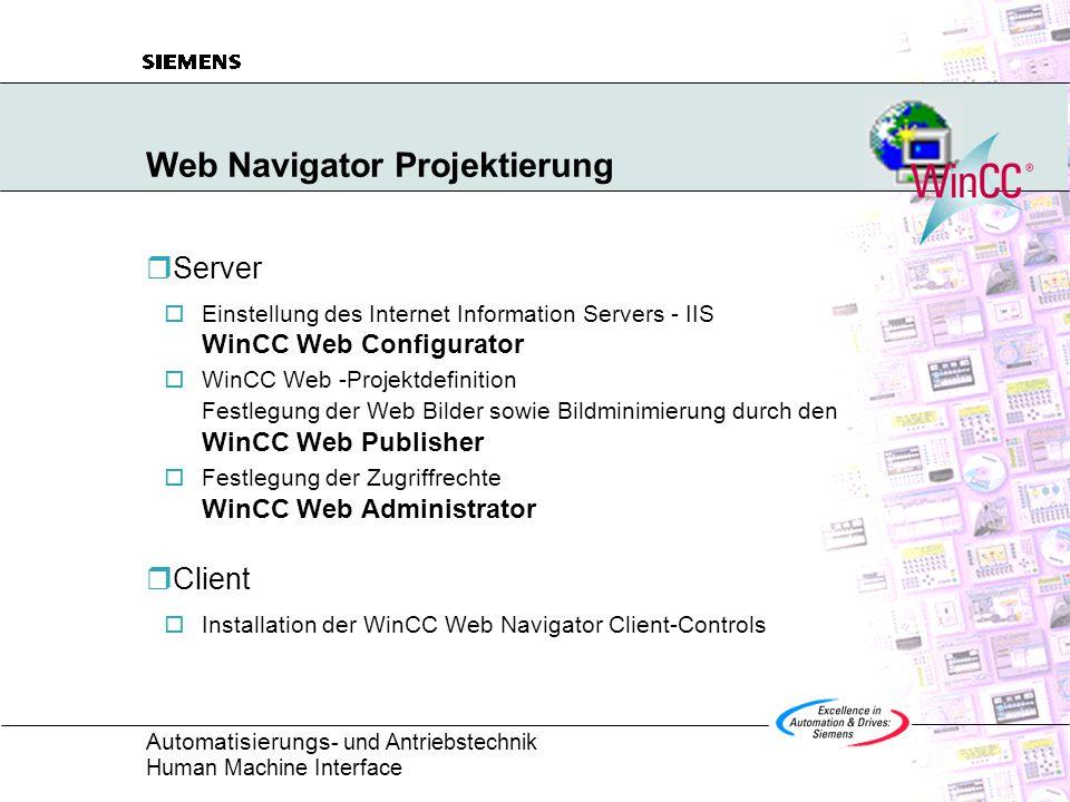 Web Navigator Projektierung
