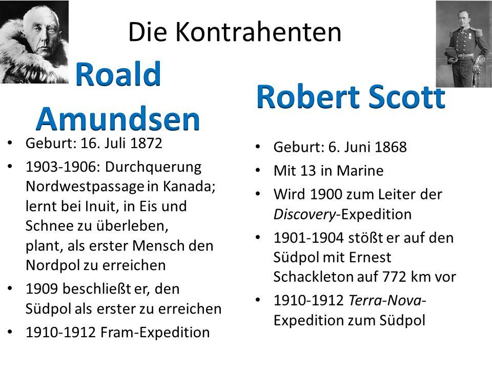 Roald Amundsen Robert Scott