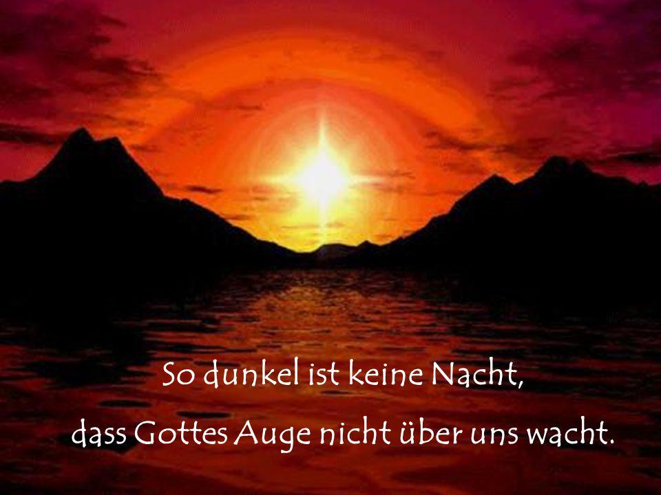 So dunkel ist keine Nacht, dass Gottes Auge nicht über uns wacht.