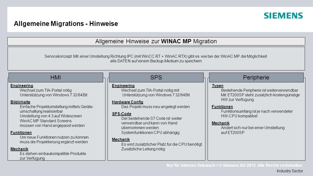 Allgemeine Migrations - Hinweise