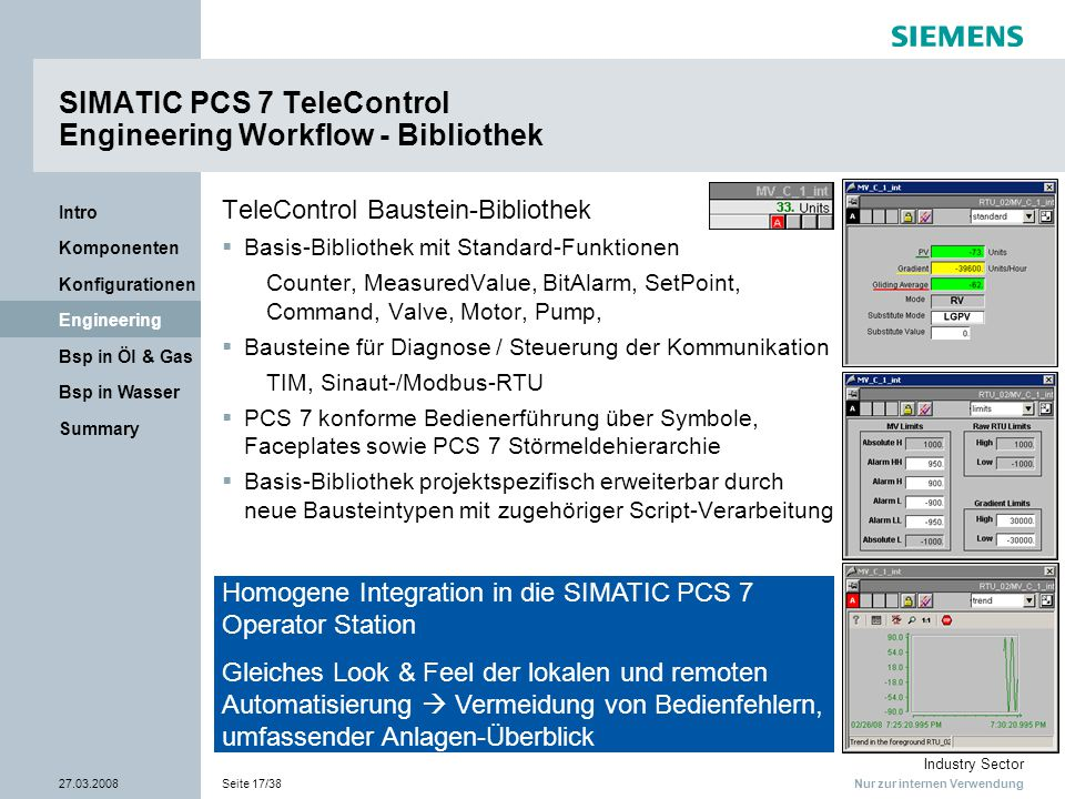 SIMATIC PCS 7 TeleControl Engineering Workflow - Bibliothek