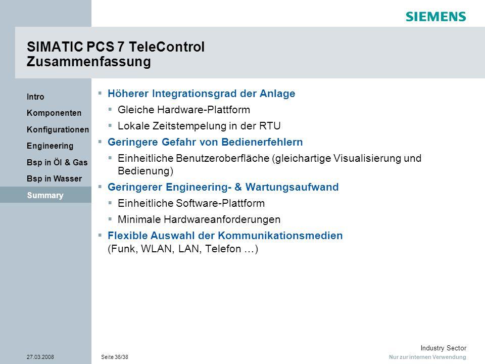 SIMATIC PCS 7 TeleControl Zusammenfassung