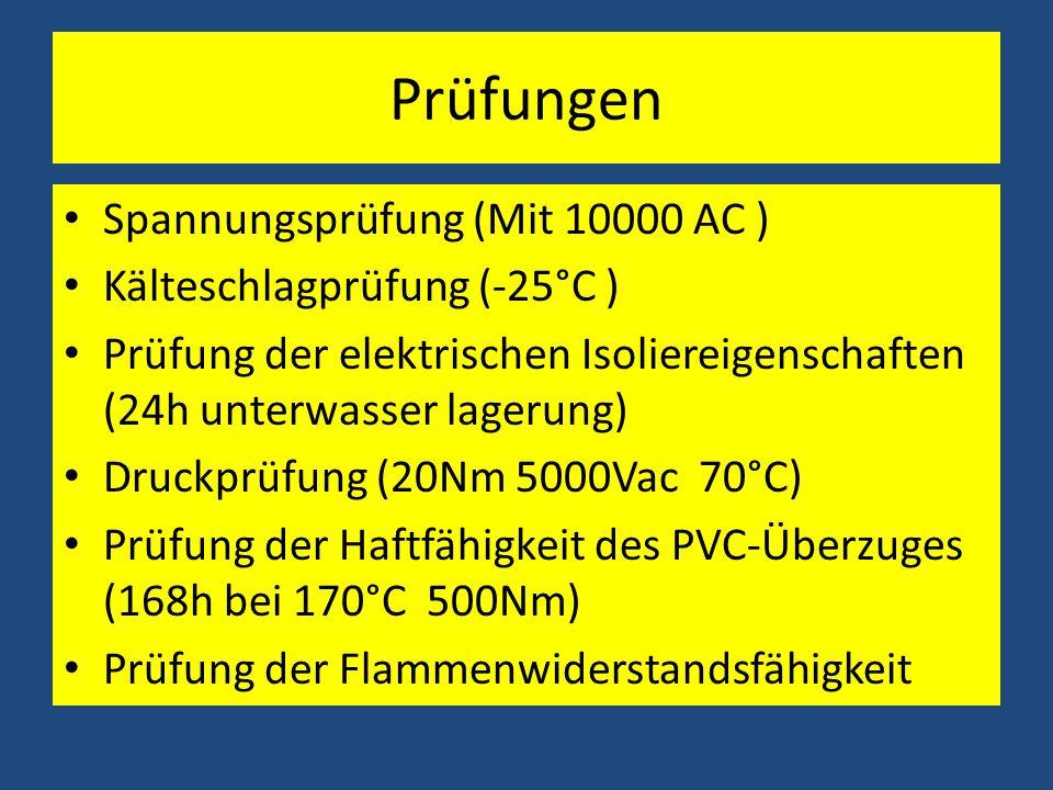 Prüfungen Spannungsprüfung (Mit 10000 AC ) Kälteschlagprüfung (-25°C )