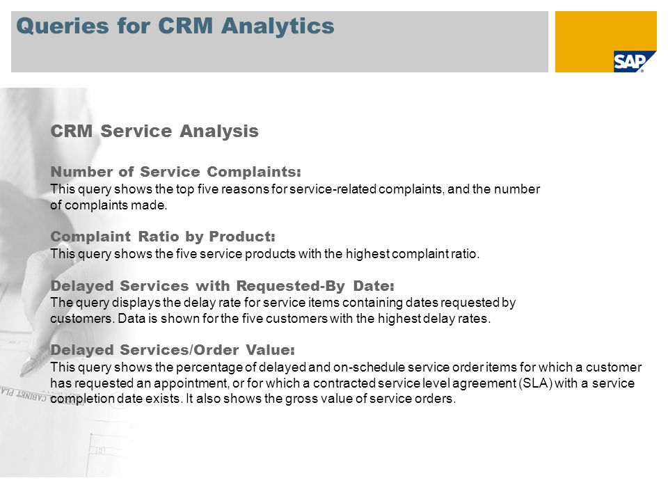 Queries for CRM Analytics