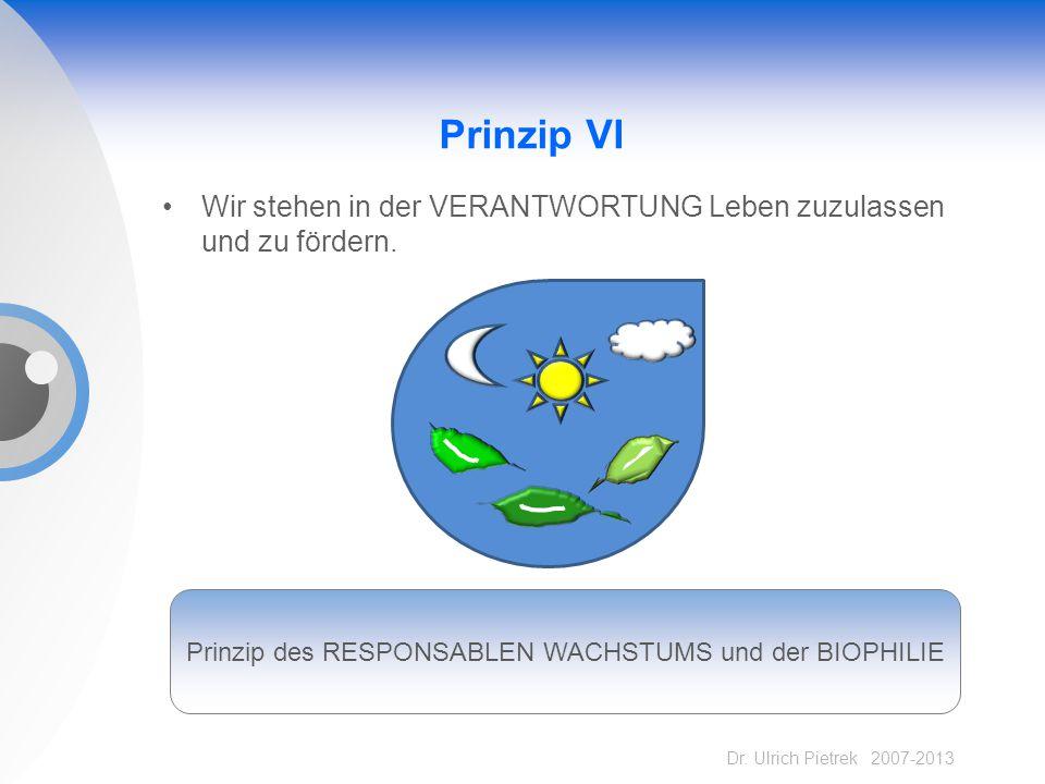 Prinzip des RESPONSABLEN WACHSTUMS und der BIOPHILIE