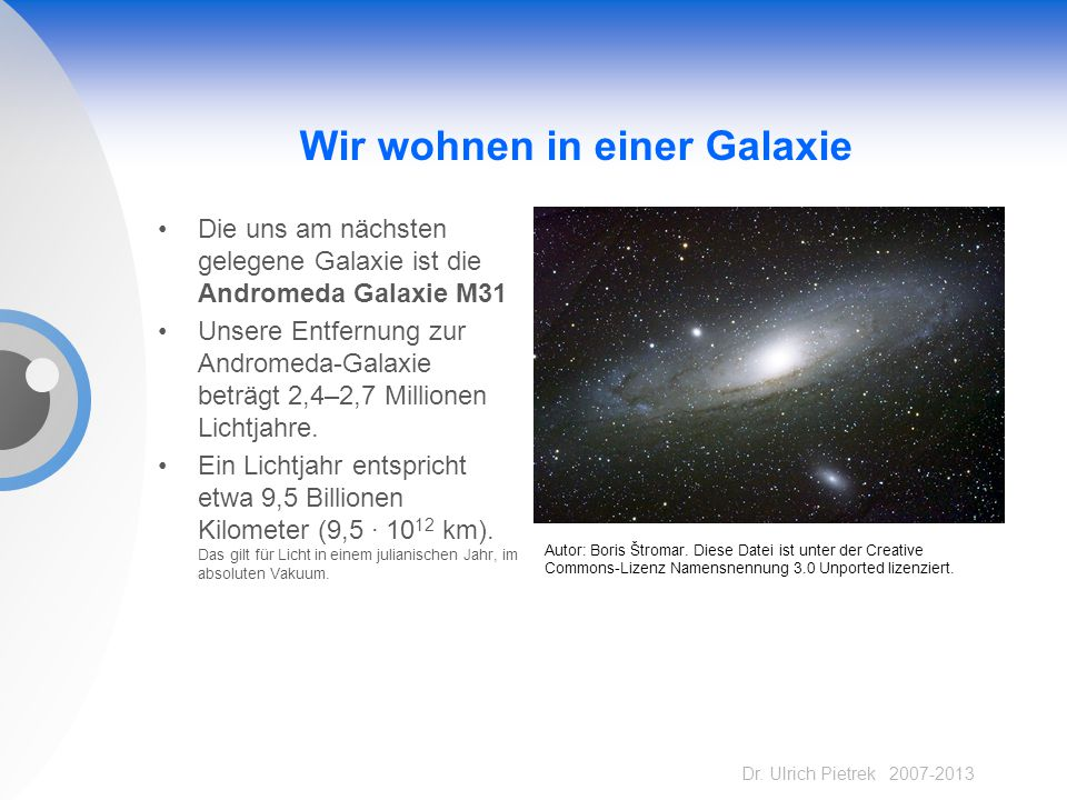 Wir wohnen in einer Galaxie