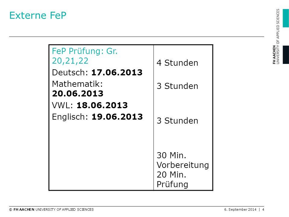 Externe FeP FeP Prüfung: Gr. 20,21,22 4 Stunden Deutsch: 17.06.2013