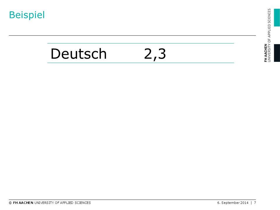 Beispiel Deutsch 2,3